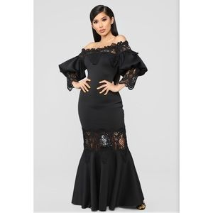 Fashion Nova Mermaid Maxi Dress - S